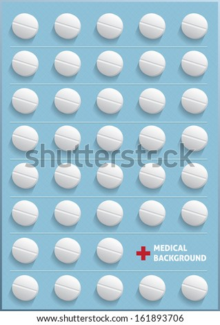 background of pills vector illustration - stock vector