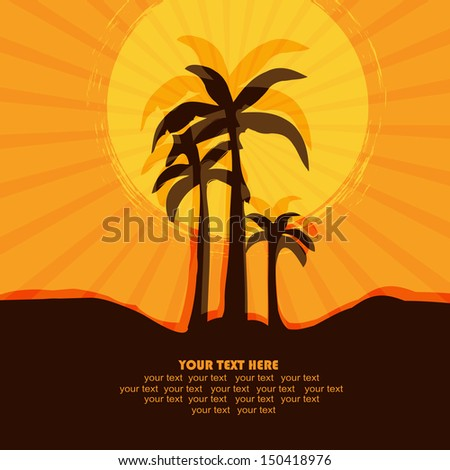 background with the image of palm trees