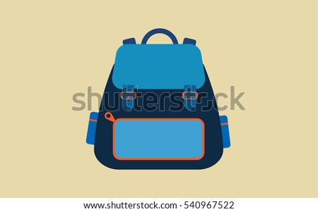 Backpack flat icon Vector.