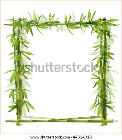bamboo frame EPS 10 - stock vector