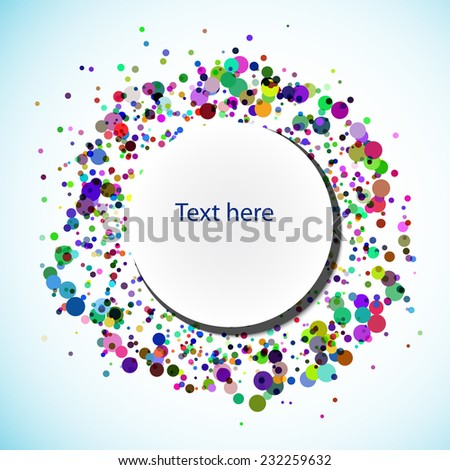 banner for your text with colors circles - stock vector