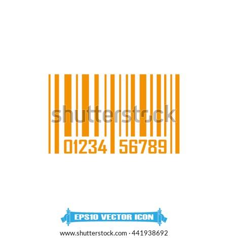 bar code icon vector illustration eps10 - stock vector