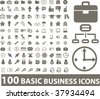 100 basic business icons. vector - stock