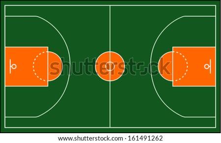 basketball court. Vector illustration  - stock vector