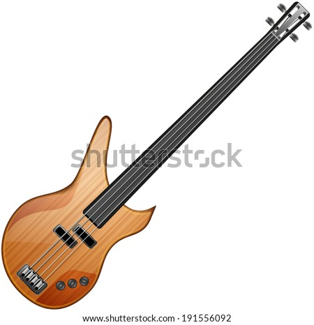 bass abstract vector illustration isolated eps 10 / bass guitar