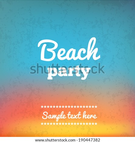 Beach Party Flyer - Vector Design - stock vector