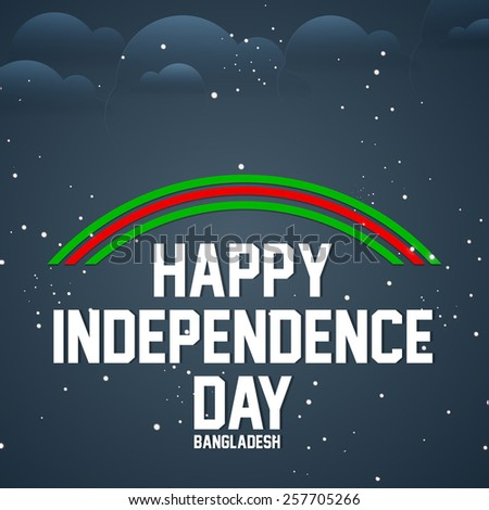 Beautiful Abstract for Bangladesh Independence Day on shiny background - stock vector