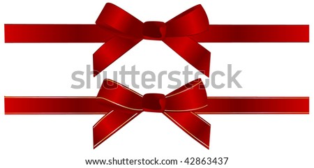 Beautiful bow on white background