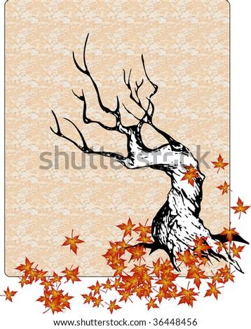 beautiful vector tree design - stock vector