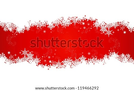 beauty christmas card background with snowflakes 	 - stock vector