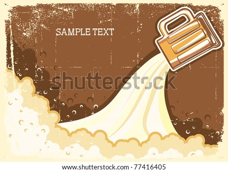 Beer background.Vector grunge Illustration for text - stock vector