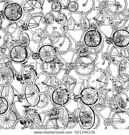 Bicycle Collage - stock vector