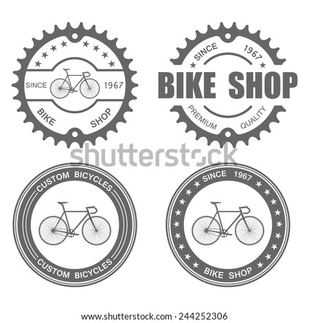 Bicycle Label Set Template.vector - stock vector
