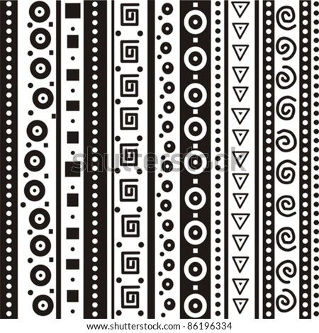 black and white geometric seamless pattern. Vector background. - stock vector