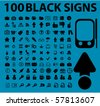 100 black signs. vector - stock vector