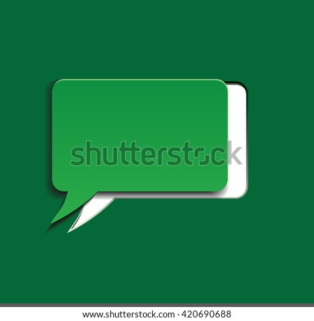 Blank green speech bubble sticker