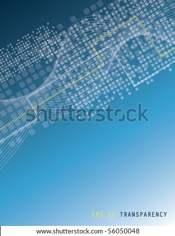 Blue abstract composition - stock vector