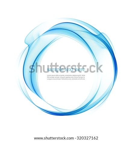 Blue wave line abstract background. Vector illustration - stock vector