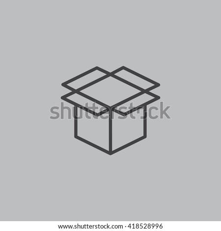 Box icon vector,  - stock vector