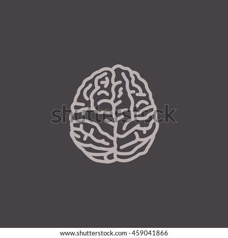 flat brain icon - photo #33
