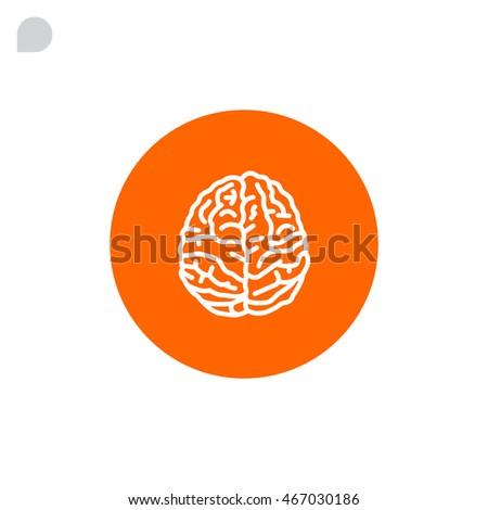 flat brain icon - photo #20