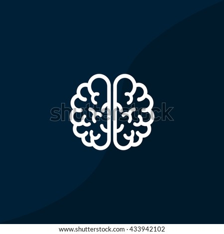 Brain icon vector,  - stock vector