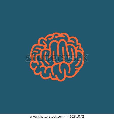 Brain icon vector,  - stock vector