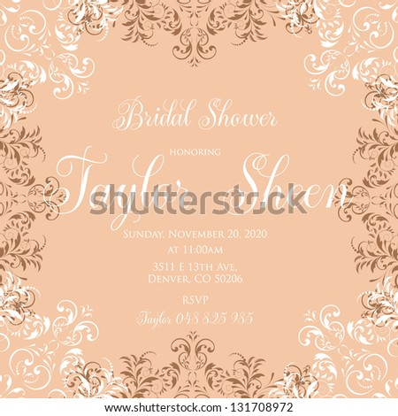 Bridal invitation cards