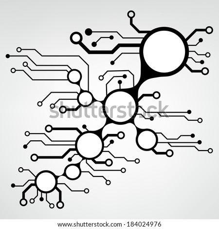 circuit board techno background eps10 vector stock vector