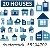 20 buildings signs. vector - stock vector