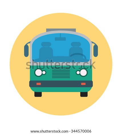 Bus Colored Vector Icon