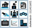 business and company icon set - stock photo