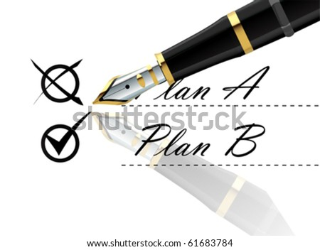 BUSINESS BACK UP PLAN vector - stock vector