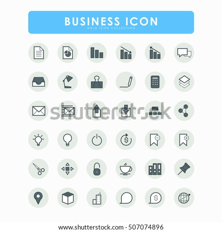 36 business bold icons