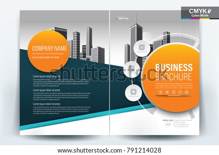business brochure background design template flyer stock vector
