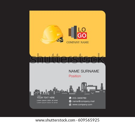 Business card template engineer name card stock vector royalty free business card template engineer name card stock vector royalty free 609565925 shutterstock reheart Images
