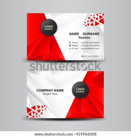 Business card template vector illustrationgreen polygon stock vector business card template vector illustrationgreen polygon backgroundflyer design name card template accmission Image collections