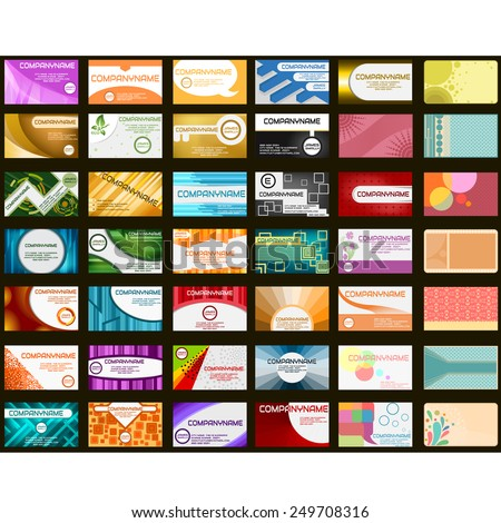 42 business cards in different styles