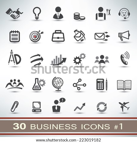 30 business icons set - stock vector