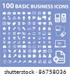 100 business icons, signs, vector - stock vector