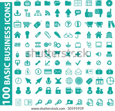 100 business icons.vector