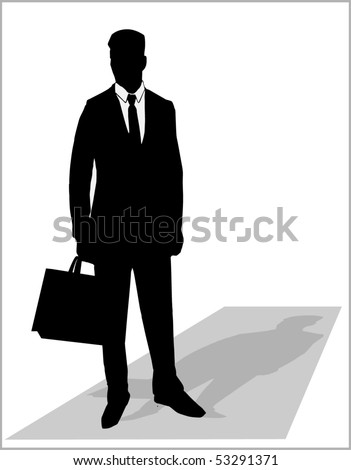 Business man silhouette - stock vector