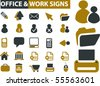 20 business office signs. vector - stock photo