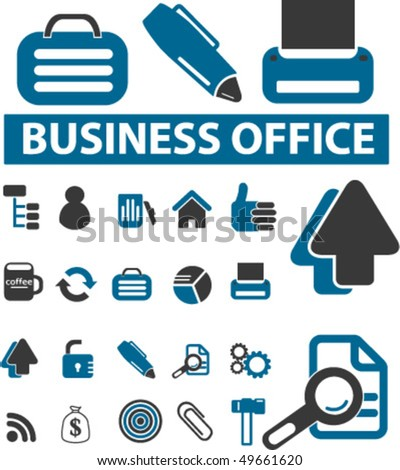 20 business office signs. vector