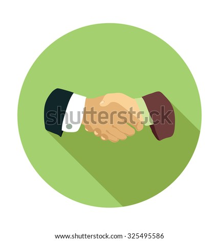 Business Partner Colored Vector Illustration  - stock vector