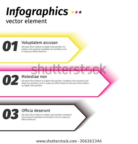 Business steps to success charts and graphs options banner. Vector illustration design template.