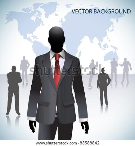 Businessman in Elegant Suit/Business People in Background - stock vector