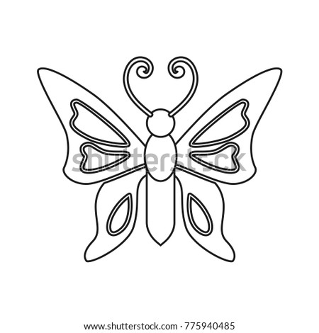 Butterfly Drawing Coloring Pages For Kids Vector Stock