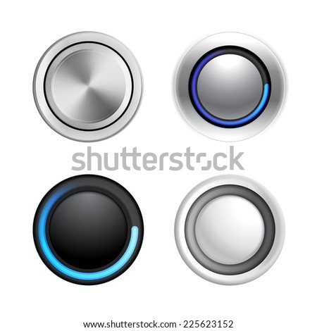 4 buttons in different styles for your designs