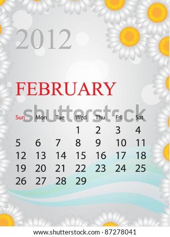 2012 Calendar - stock vector